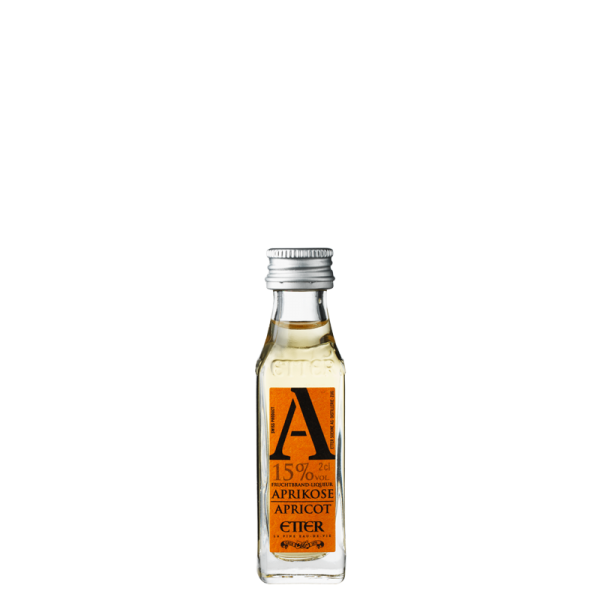 Miniature Etter New Generation Aprikose Fruchtbrand-Liqueur 2cl, 15% Vol.